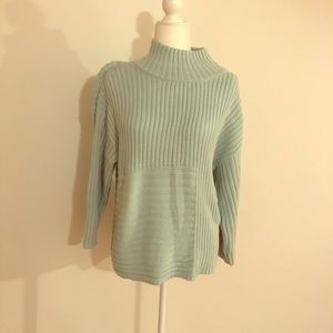 Vince Camuto Mint Funnel Sweater Size M